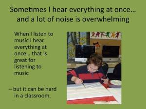 """images from """"Dear Teacher: A letter from H"""" of Thirty Days of Autism"""